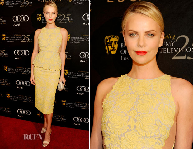 Charlize Theron In Stella McCartney 2012 BAFTA Awards Season Tea Party Charlize Theron In Stella McCartney – 2012 BAFTA Awards Season Tea Party