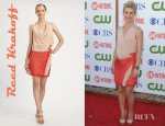 Claire Danes' Reed Krakoff Silk Colorblock Wrap Dress
