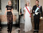 Crown Princess Mette-Marit of Norway In Emilio Pucci - Gala Dinner For Queen Margrethe II of Denmark