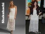 Demi Lovato's Shakuhachi Embellished Daisy Chain Camisole Dress