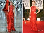 Dianna Agron In Giles - 2012 Golden Globe Awards