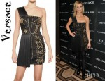 Elizabeth Banks' Versace Studded 3D Jersey Dress