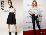 Emma Roberts' ASOS Heart Print Peter Pan Collar Shirt