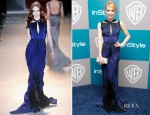 Emma Roberts In Zac Posen - Warner Bros. & InStyle Golden Globe Awards Party