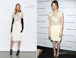 Emma Stone In J. Mendel & Michael Kors -2011 National Board Of Review Awards Gala