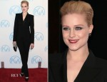 Evan Rachel Wood In Barbara Bui - 2012 Producers Guild Awards
