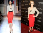 Evan Rachel Wood In Roland Mouret - BAFTA Awards Season Tea Party