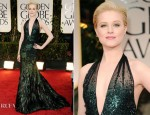 Evan Rachel Wood In Gucci Première - 2012 Golden Globe Awards