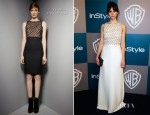 Felicity Jones In Valentino - Warner Bros. & InStyle Golden Globe Awards Party