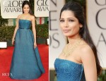 Freida Pinto In Prada - 2012 Golden Globe Awards