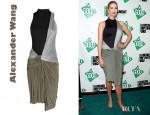 Ivanka Trump's Alexander Wang Knotted Draped-Jersey Dress