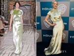 Jamie King In Valentino Couture -Warner Bros. & InStyle Golden Globe Awards Party