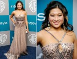 Jenna Ushkowitz In Norman Ambrose - Warner Bros. & InStyle Golden Globe Awards Party