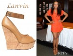 Jennifer Hudson's Lanvin Leather Cork Wedges