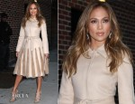 Jennifer Lopez In Alberta Ferretti & Valentino - 'Q'Viva! The Chosen' Promo Tour