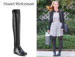 Jennifer Love Hewitt's Stuart Weitzman Leather Over-The-Knee Boots