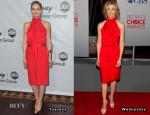Jennifer Morrison & Faith Hill In Red Bill Blass