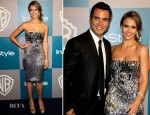 Jessica Alba In Gucci - Warner Bros. & InStyle Golden Globe Awards Party