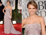 Jessica Alba In Gucci Premiere - 2012 Golden Globe Awards