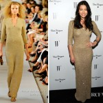 Jessica Biel In Oscar de la Renta - W Magazine's Annual Golden Globe Awards Celebration