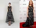 Jessica Chastain In Monique Lhuillier - 'Coriolanus' New York Premiere