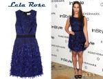Jessica Lowndes' Lela Rose Ribbon-Fringed Organza Dress