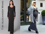 Jessica Simpson's T by Alexander Wang 1x1 Maxi Sweater Dress