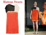 Julianne Moore's Bottega Veneta Color-Block Silk-Chiffon Dress