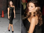 Kate Beckinsale In Donna Karan - The Late Show with David Letterman