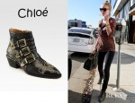 Kate Bosworth's Chloé Studded Leather Buckle Ankle Boots