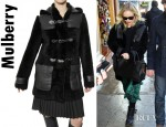 Kate Bosworth's Mulberry Furry Sheepskin Tillie Duffle Coat
