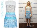 Kate Bosworth's Peter Pilotto Waffle Stamp Dress
