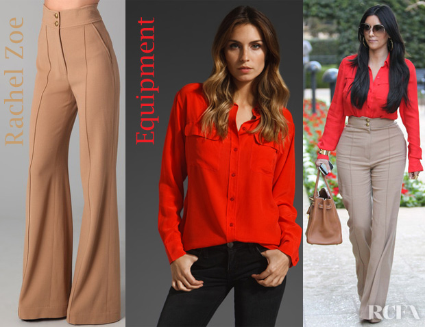Kim Kardashian's Equipment Signature Blouse and Rachel Zoe ...