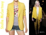 Kirsten Dunst's Stella McCartney Blazer and Jimmy Choo India Mirrored Leather Sandals