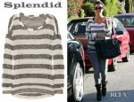 Kourtney Kardashian's Splendid Striped Open Knit Sweater