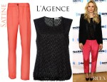 Kristen Bell's Satine Julia Pants and L'Agence Vest Top
