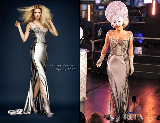 Lady Gaga In Atelier Versace Dick Clark S New Year S