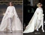 Sidewalk Style - Lady Gaga In Stéphane Rolland Couture
