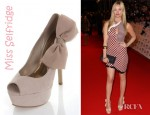 Laura Whitmore's Miss Selfridge Savannah Cream Side Bow Heels