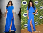 Lea Michele In Peter Som - 2012 Fox All Star Winter Press Tour Party