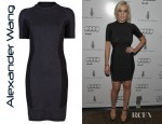 Lindsay Lohan's Alexander Wang Short Sleeve Dress