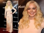 Lindsay Lohan In Prada - The Weinstein Company's 2012 Golden Globe Awards Party