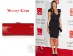 Lisa Snowdon's Jimmy Choo Tube Patent-Leather Clutch