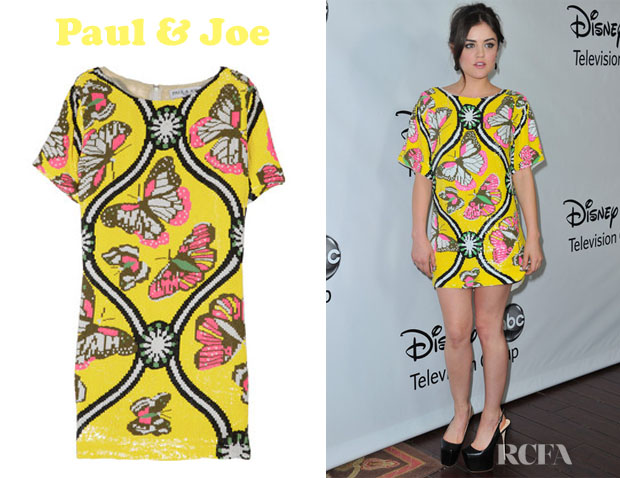 Lucy Hale Paul Joe Lucy Hale's Paul & Joe Mariposa Sequined Mini Dress