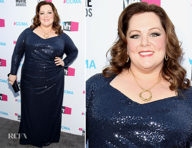 Melissa mccarthy in david meister 2012 critics choice awards red