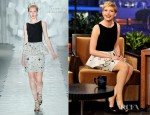 Michelle Williams In Jason Wu - The Tonight Show With Jay Leno
