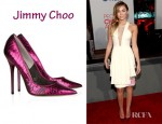 Miley Cyrus' Jimmy Choo Tippi Snake-Effect Leather Pumps