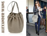 Miranda Kerr's Alexander Wang Diego Textured Leather Bucket Bag