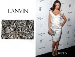 Miranda Kerr's Lanvin Diamond Print Canvas Clutch