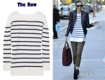Miranda Kerr's The Row Pablo Striped Cashmere Sweater